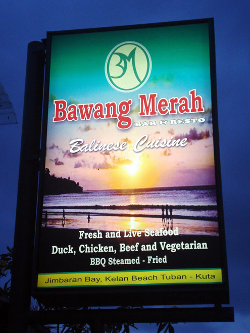 Bawang Merah Jimbaran bay restaurant