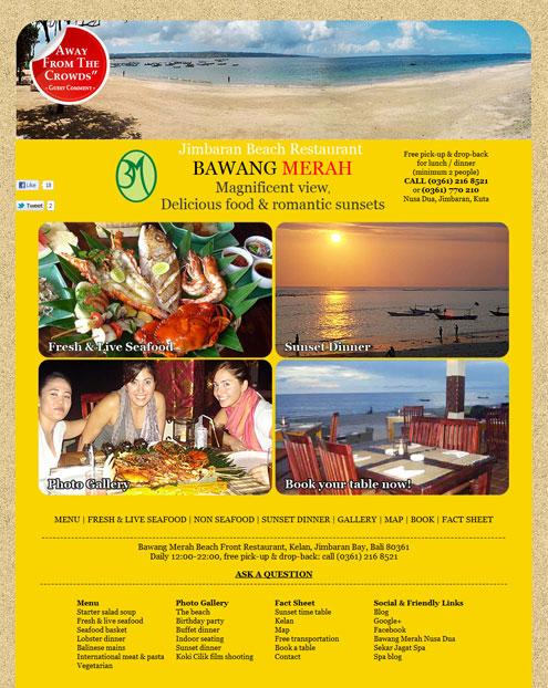 Bawang Merah Beach Restaurant Jimbaran