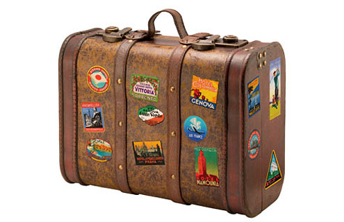 Old suitcase to go to Jimbaran