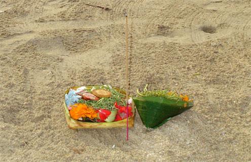 Offerings on Jimbaran Beach
